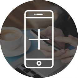 mobile internet, wifi connection on smartphone in cafe